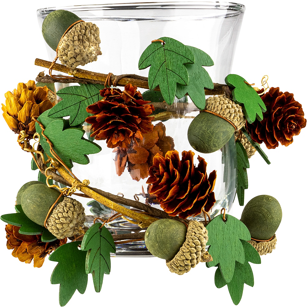 Acorn Garland Tealight Candle Holder Image #1