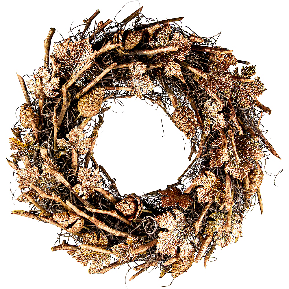 Metallic Copper Pinecones & Twigs Wreath Image #1