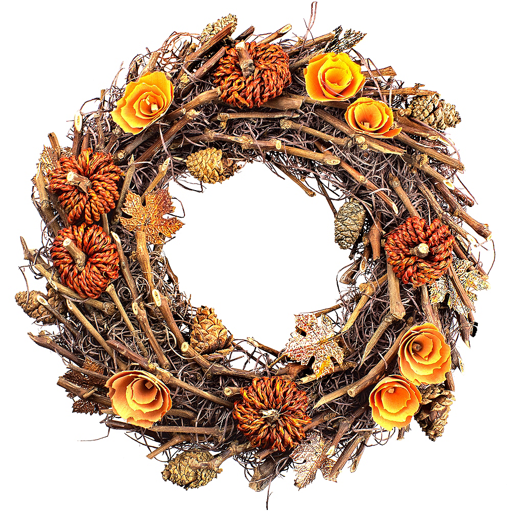 Fall Acorns & Pumpkins Wreath Image #1