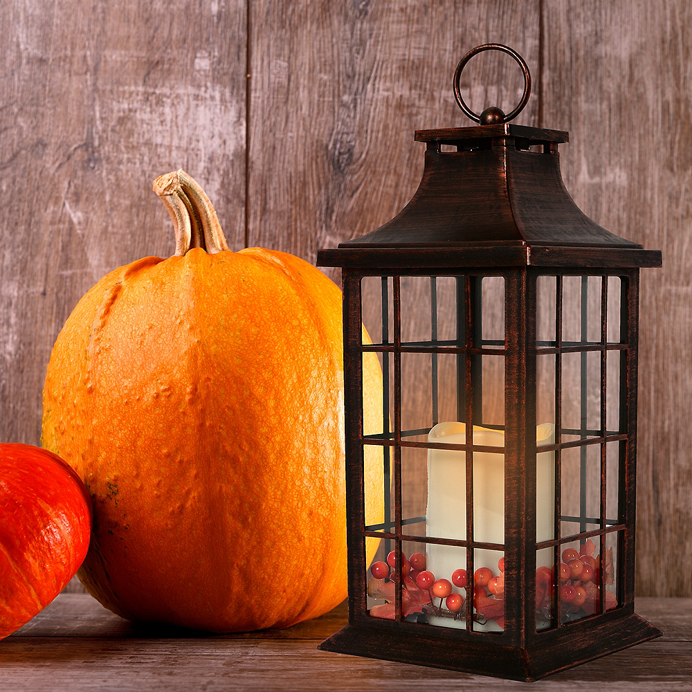 Nav Item for Harvest Fall Rustic Lantern Image #2