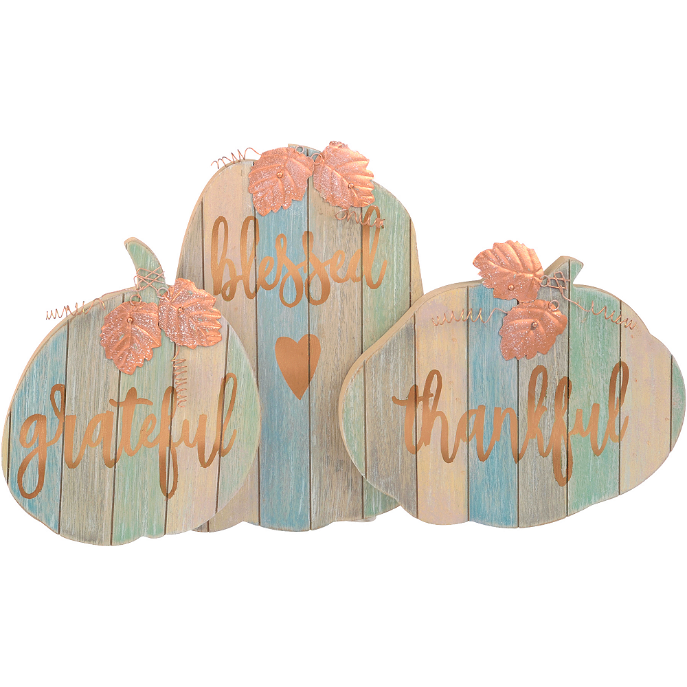 Inspirational Fall Wooden Pumpkin Plaques Image #1