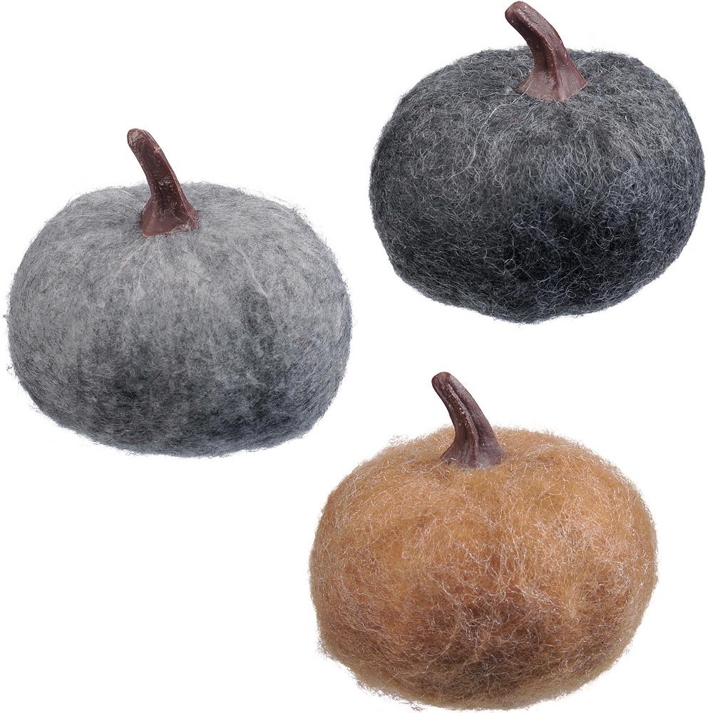 Small Felt Pumpkins 3ct Image #1