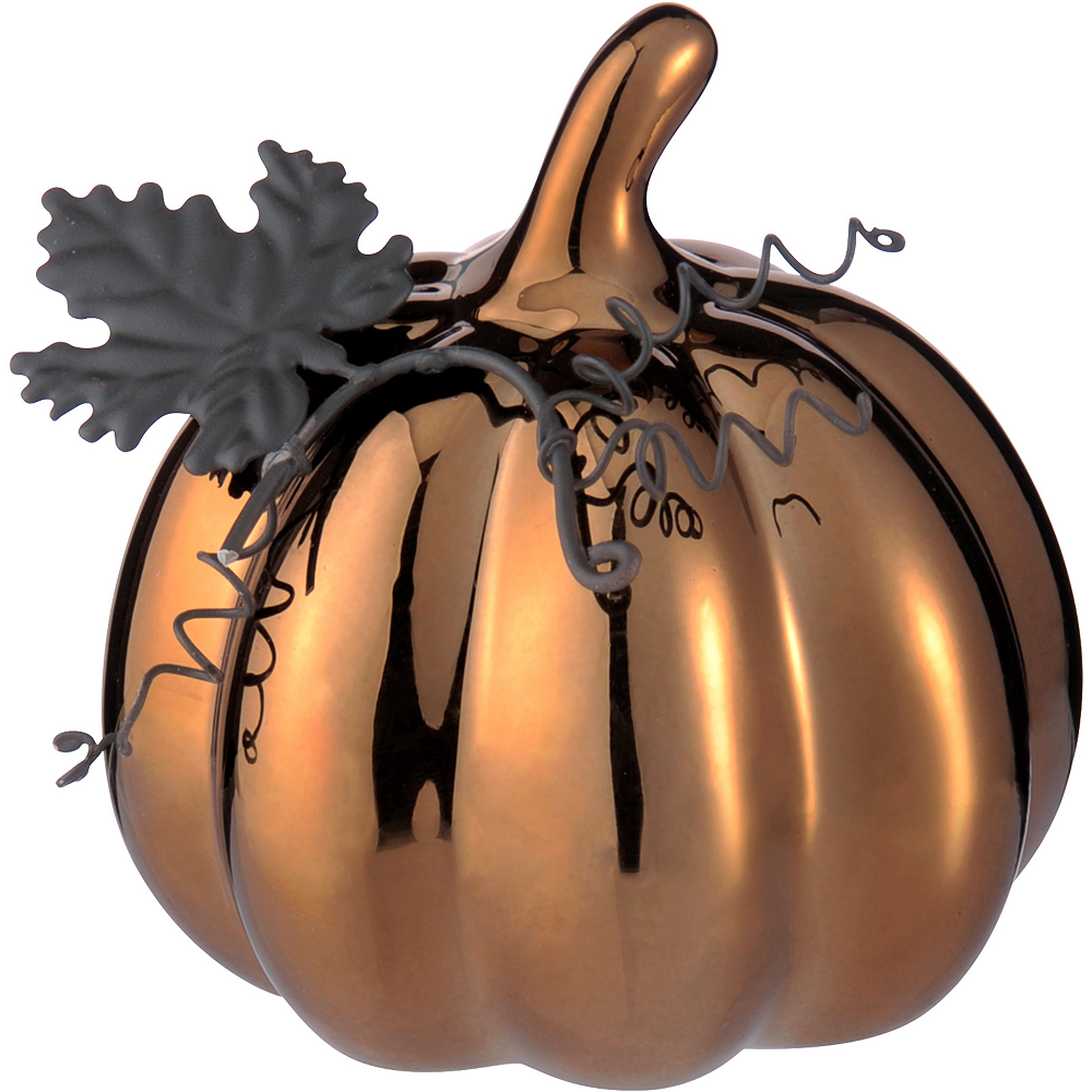 Metallic Pumpkin Figurine Image #1