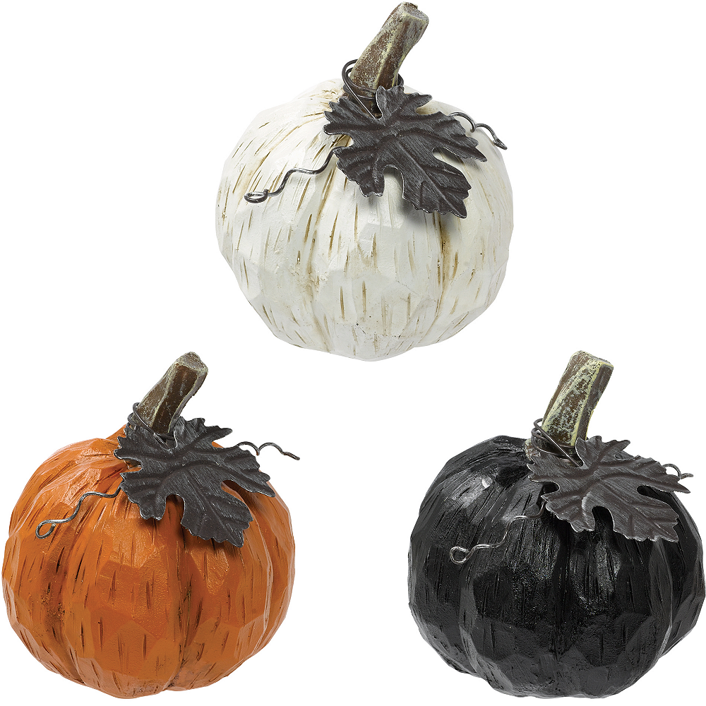 Mini Resin Pumpkins 3ct Image #1