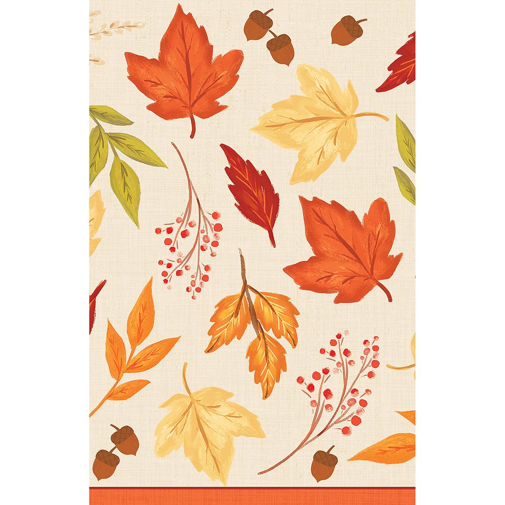 Fall Foliage Plastic Table Cover Image #2