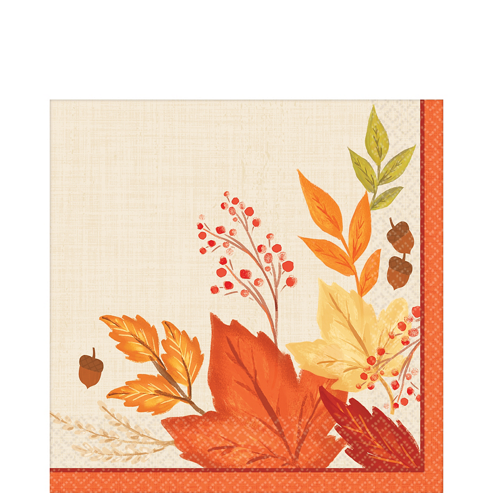 Nav Item for Fall Foliage Dinner Napkins 16ct Image #1