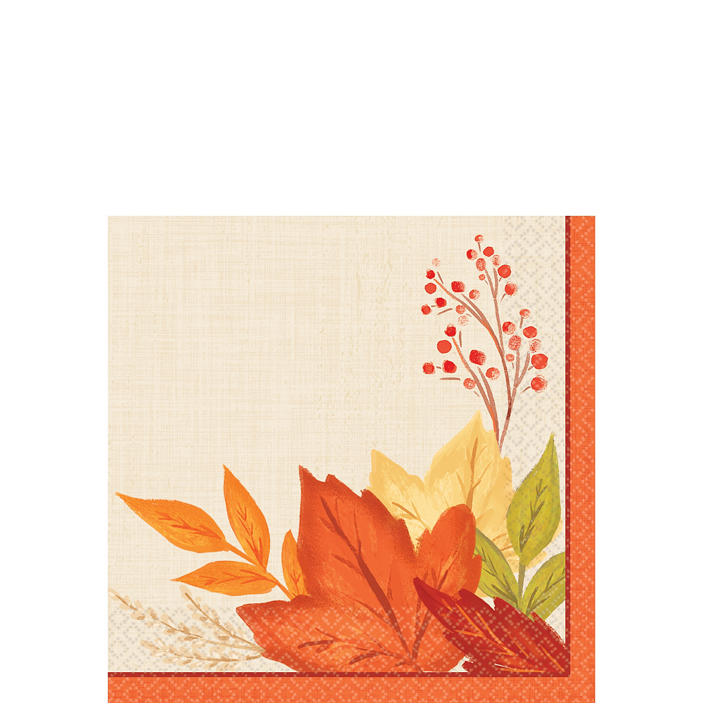 Nav Item for Fall Foliage Beverage Napkins 16ct Image #1