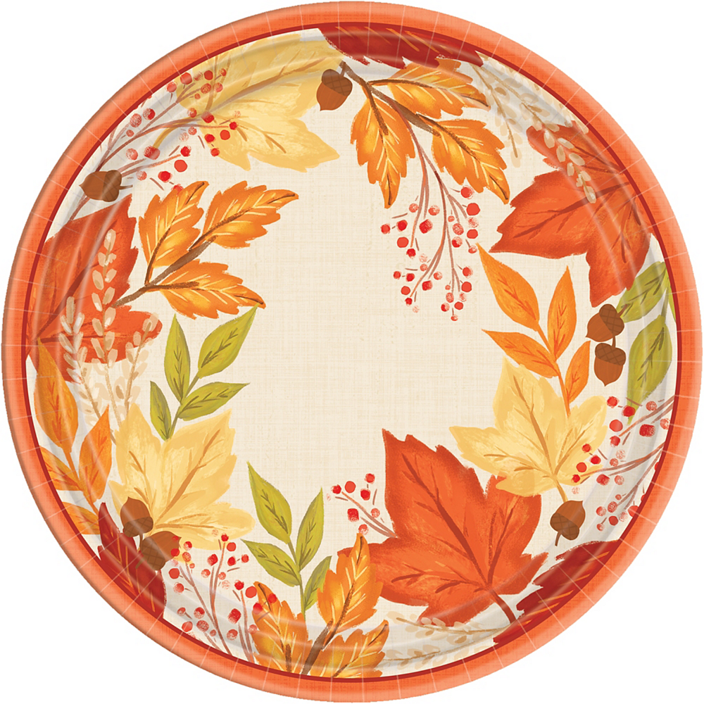 Fall Foliage Dinner Plates 8ct Image #1