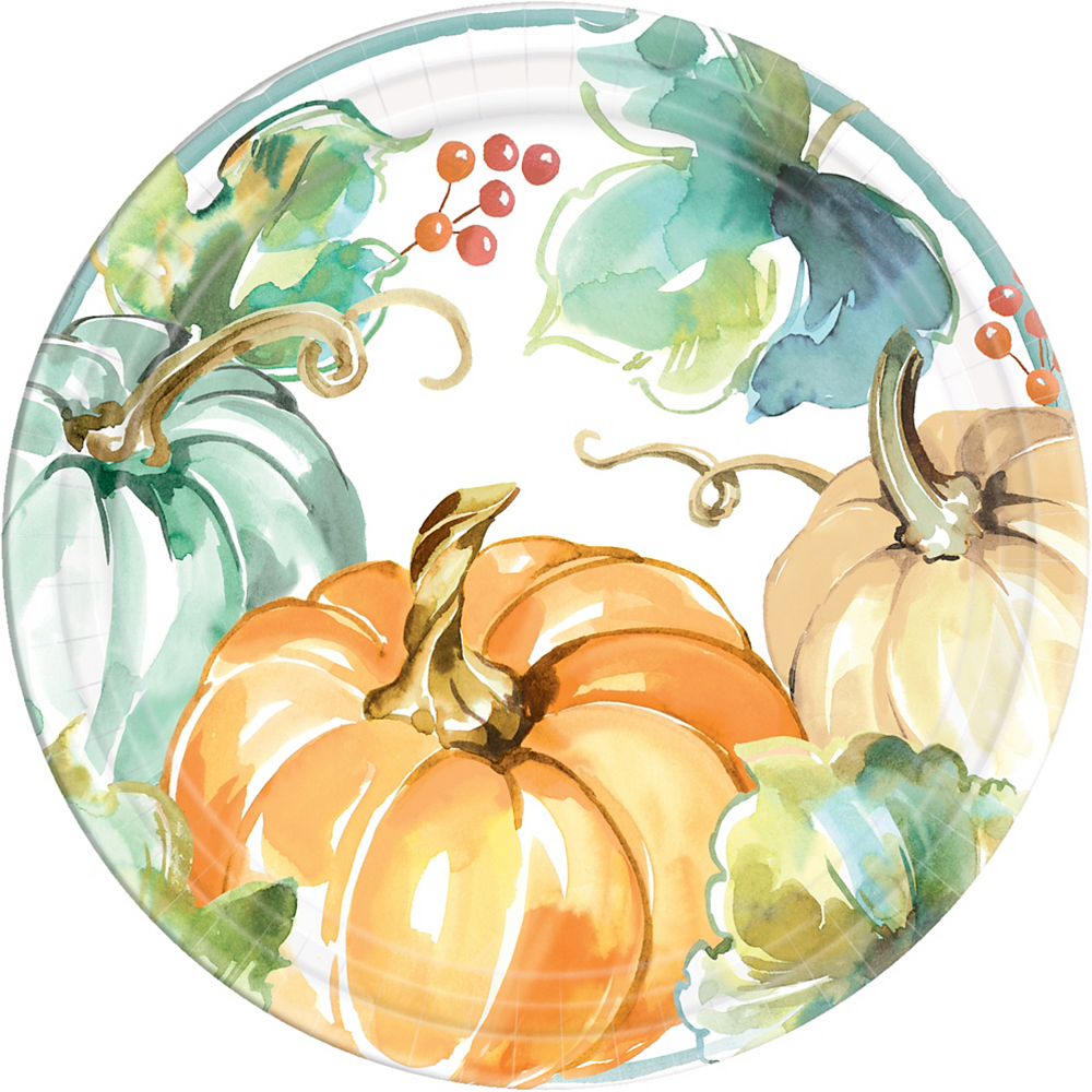 Painted Fall Dinner Plates 8ct Image #1