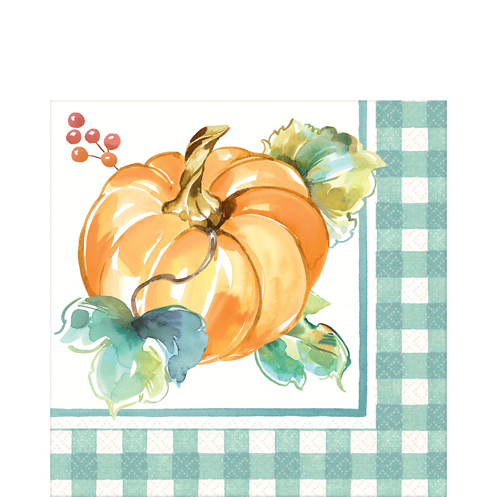 Painted Fall Dinner Napkins 16ct Image #1
