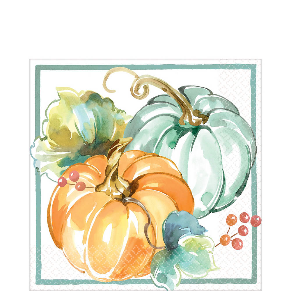 Painted Fall Lunch Napkins 16ct Image #1