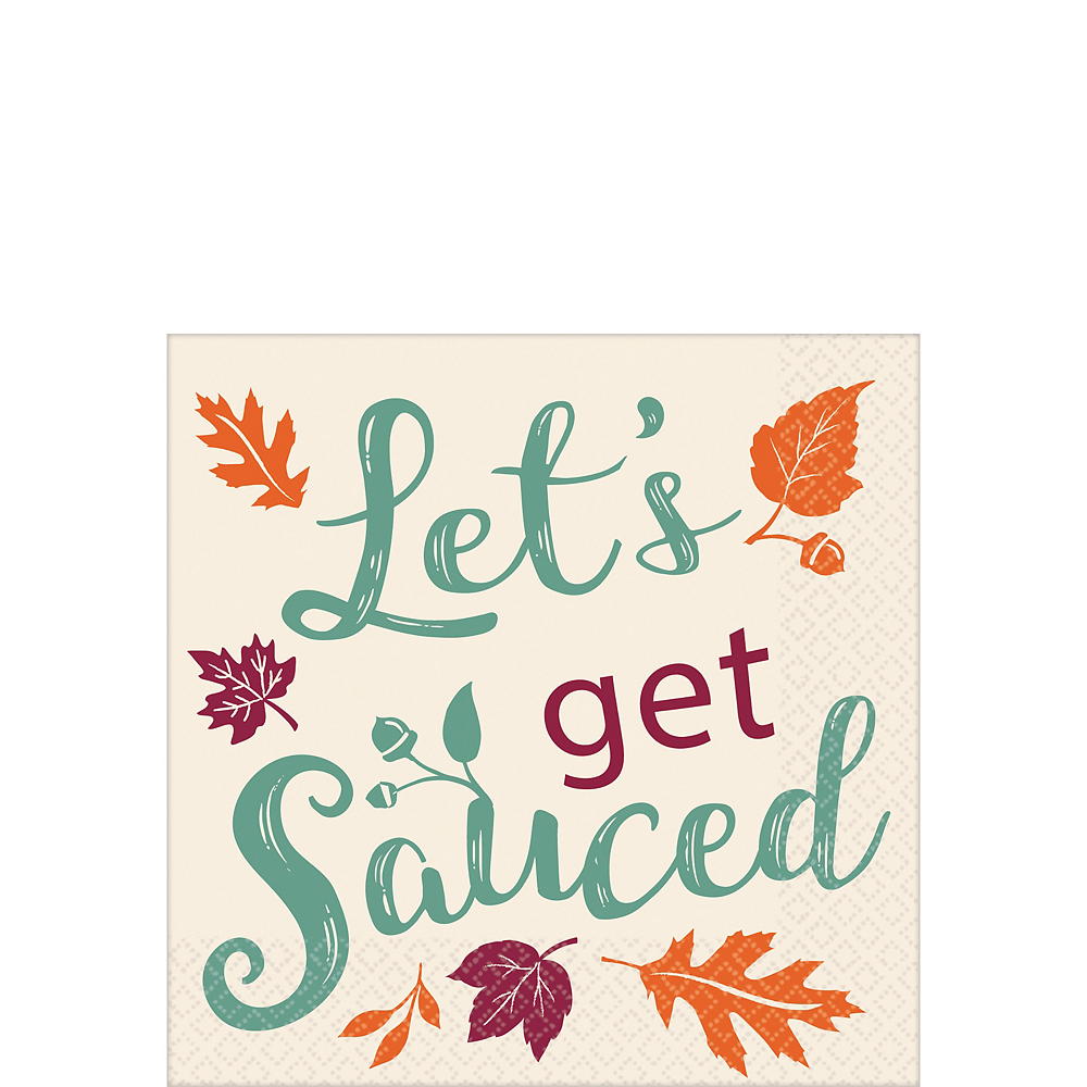 Lets Get Sauced Beverage Napkins 16ct Image #1