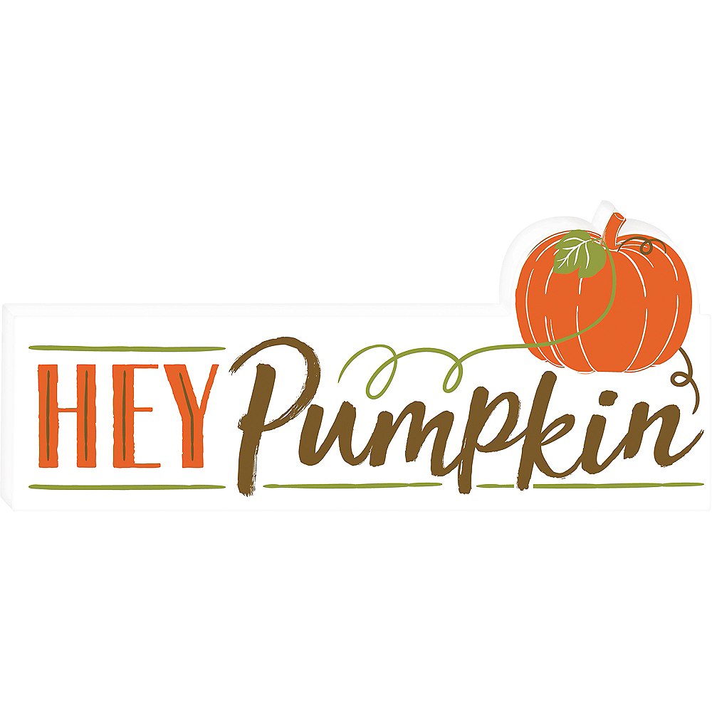 Hey Pumpkin Block Sign Image #1