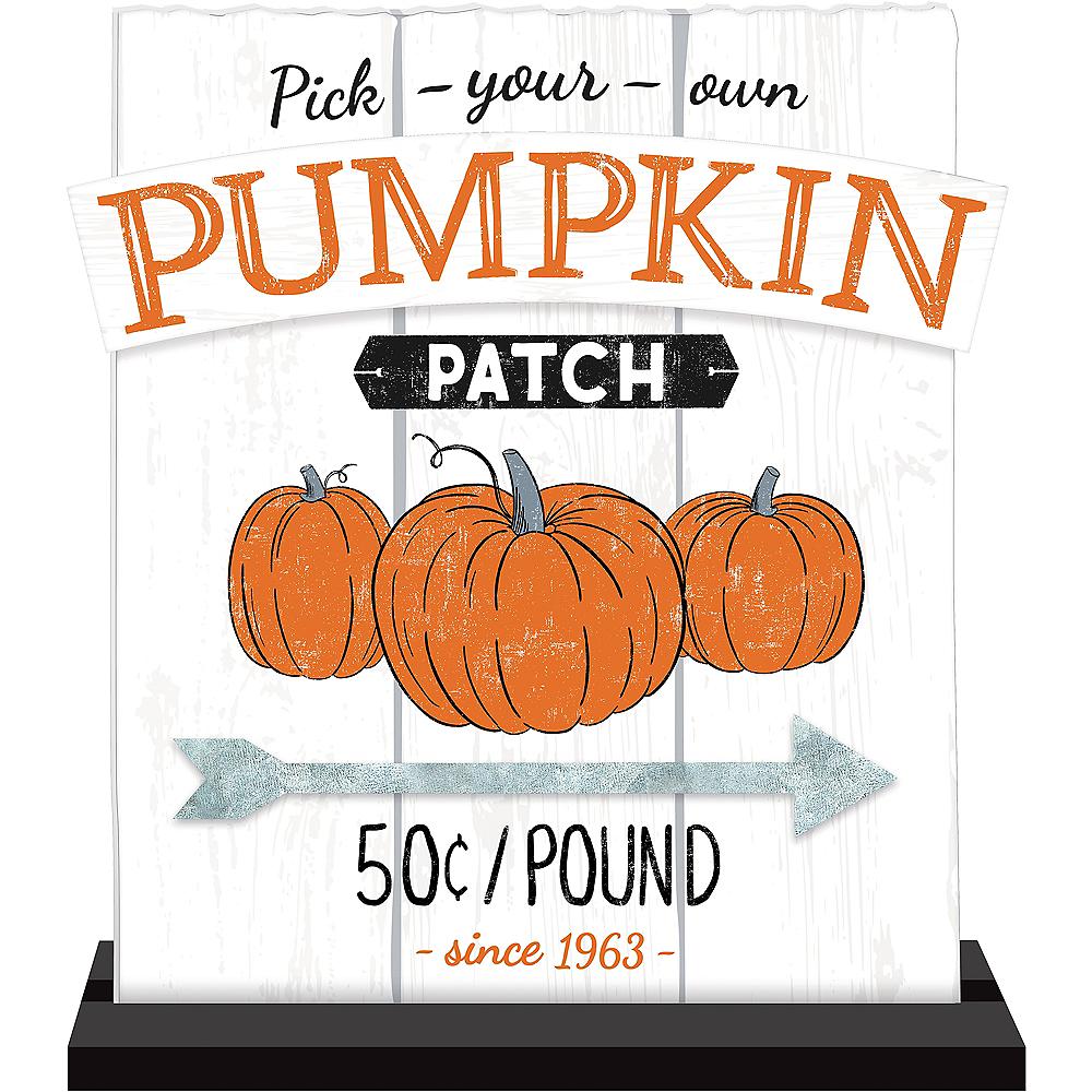 Fall Harvest Pumpkin Table Sign Image #1