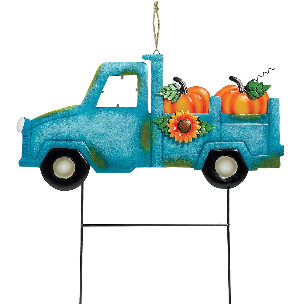 Fall Harvest Truck Yard Stake Image #1