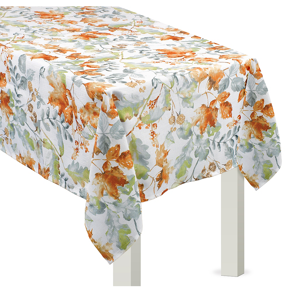 Painted Fall Fabric Table Cover Image #1