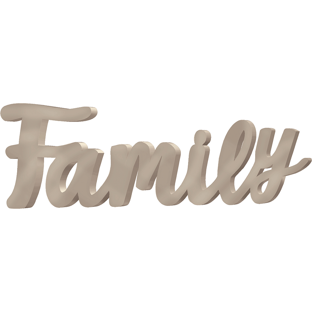 Family Block Letter Sign Image #1