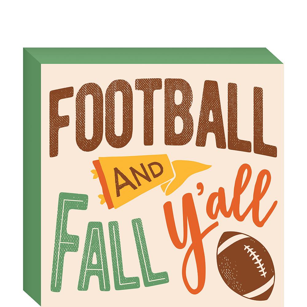 Football & Fall Block Sign Image #1