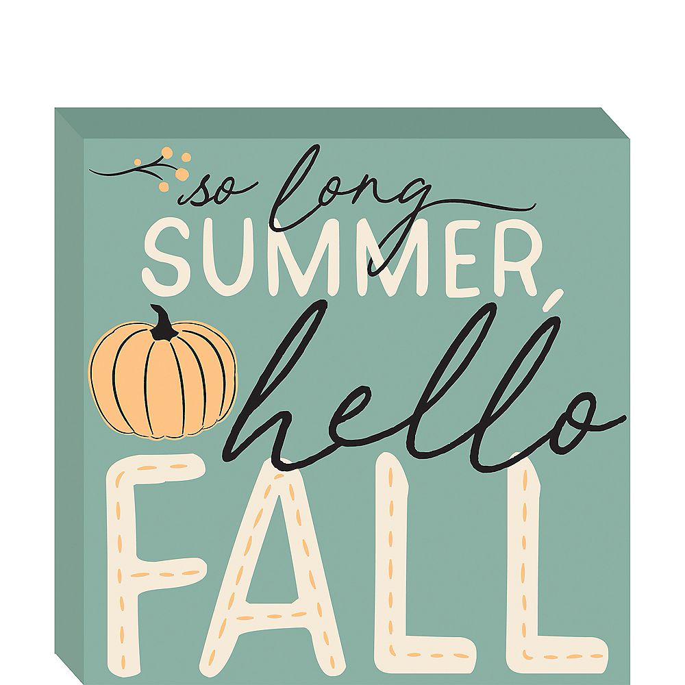 Hello Fall Block Sign Image #1