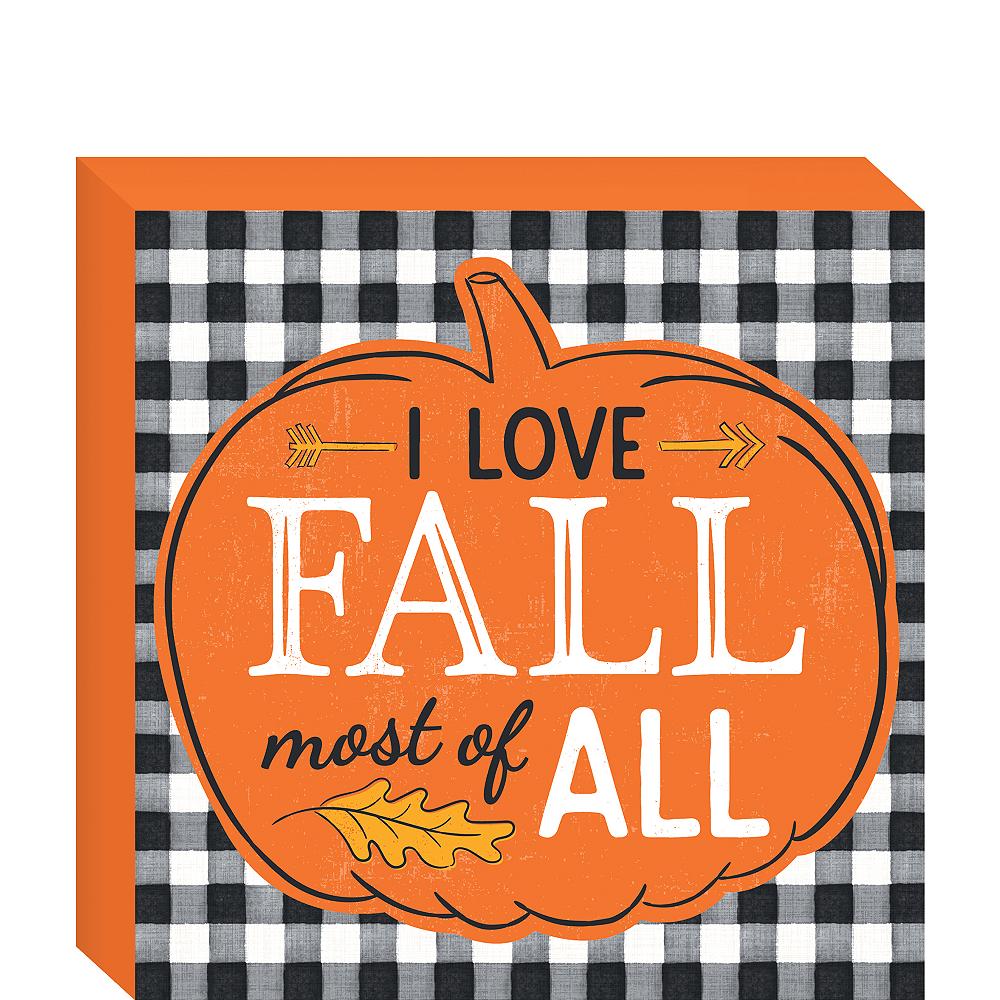 Fall Harvest Block Sign Image #1