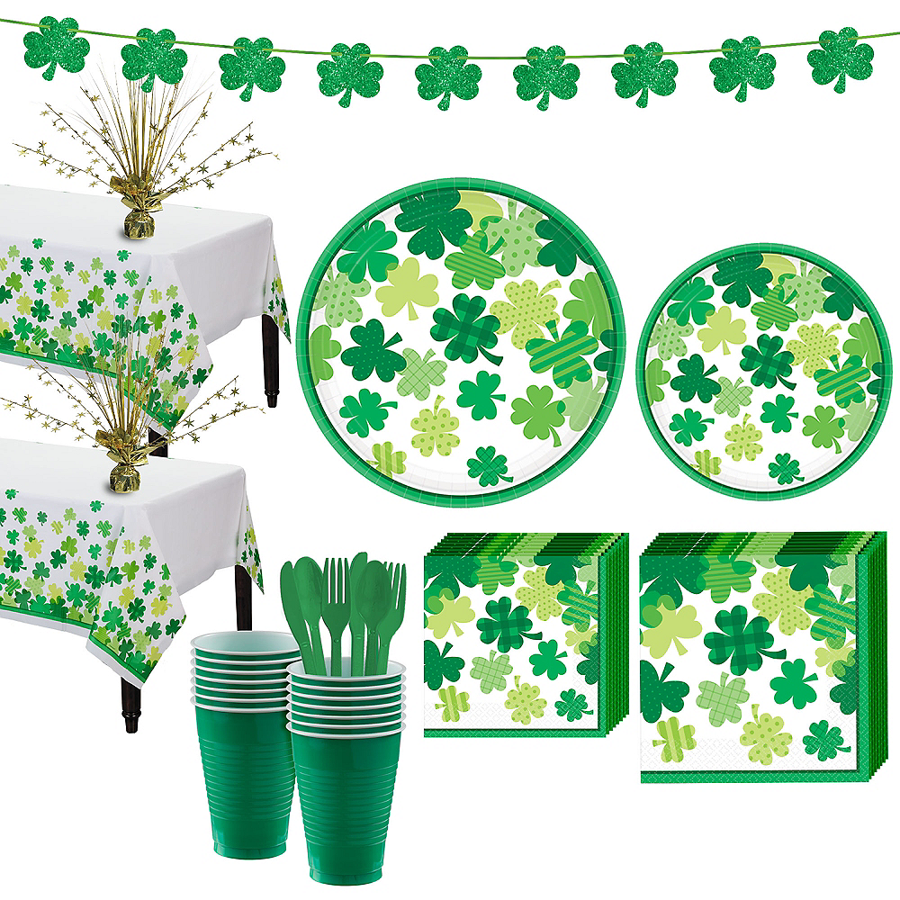Blooming Shamrock Tableware Kit for 32 Guests Image #1