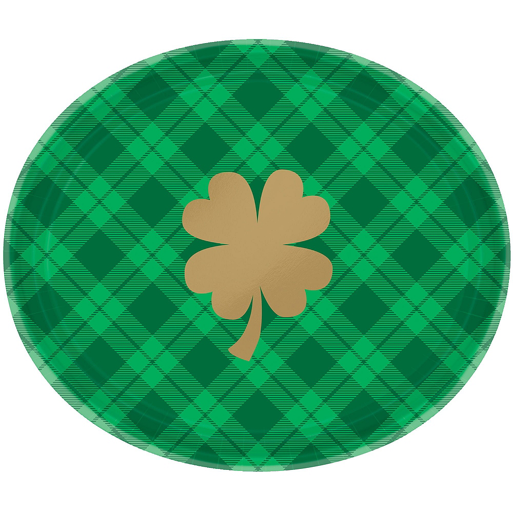 St. Patrick's Day Plaid Tableware Kit for 18 Guests Image #2
