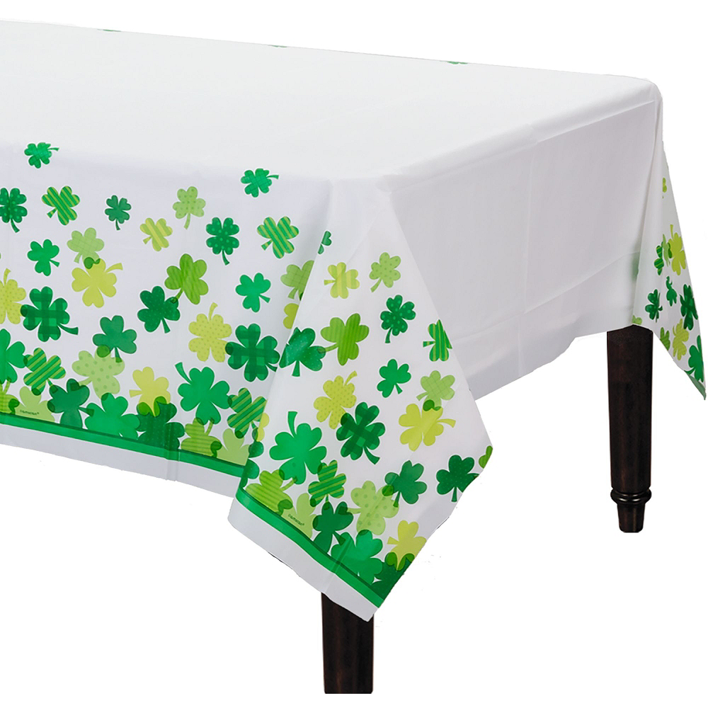 St. Patrick's Day Plaid Tableware Kit for 18 Guests Image #6