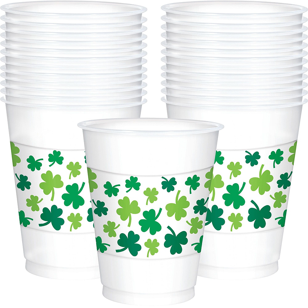 St. Patrick's Day Plaid Tableware Kit for 36 Guests Image #5