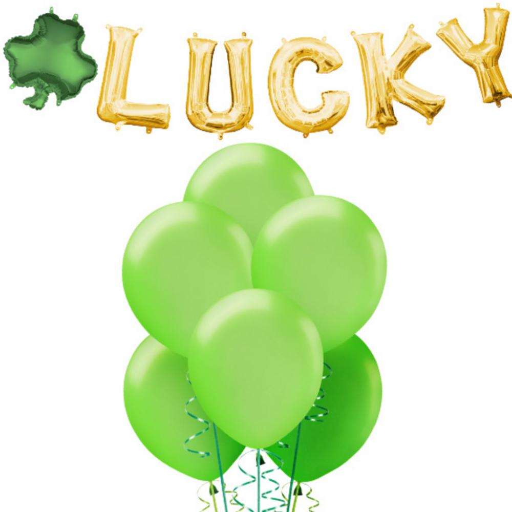 Lucky Shamrock Balloon Banner Kit Image #1