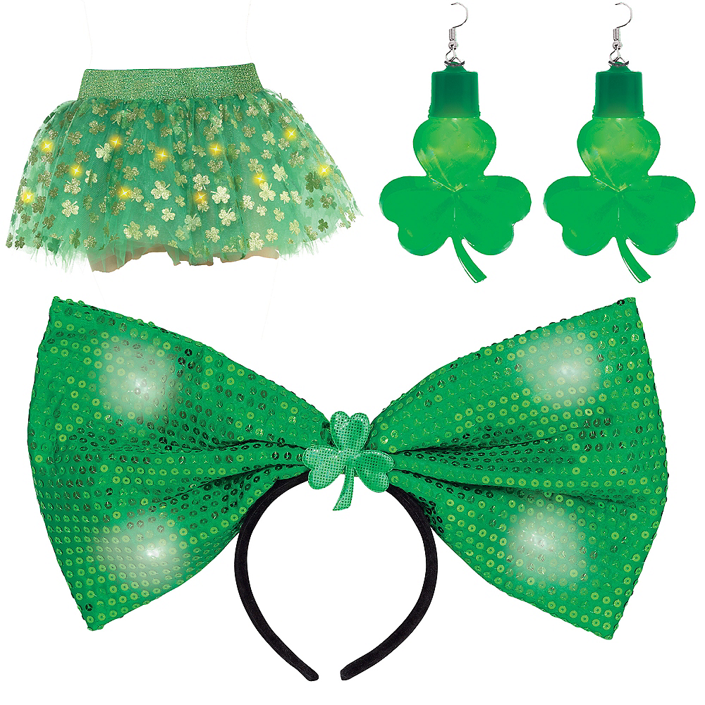 Womens Light-Up St. Patrick's Day Accessory Kit Image #1