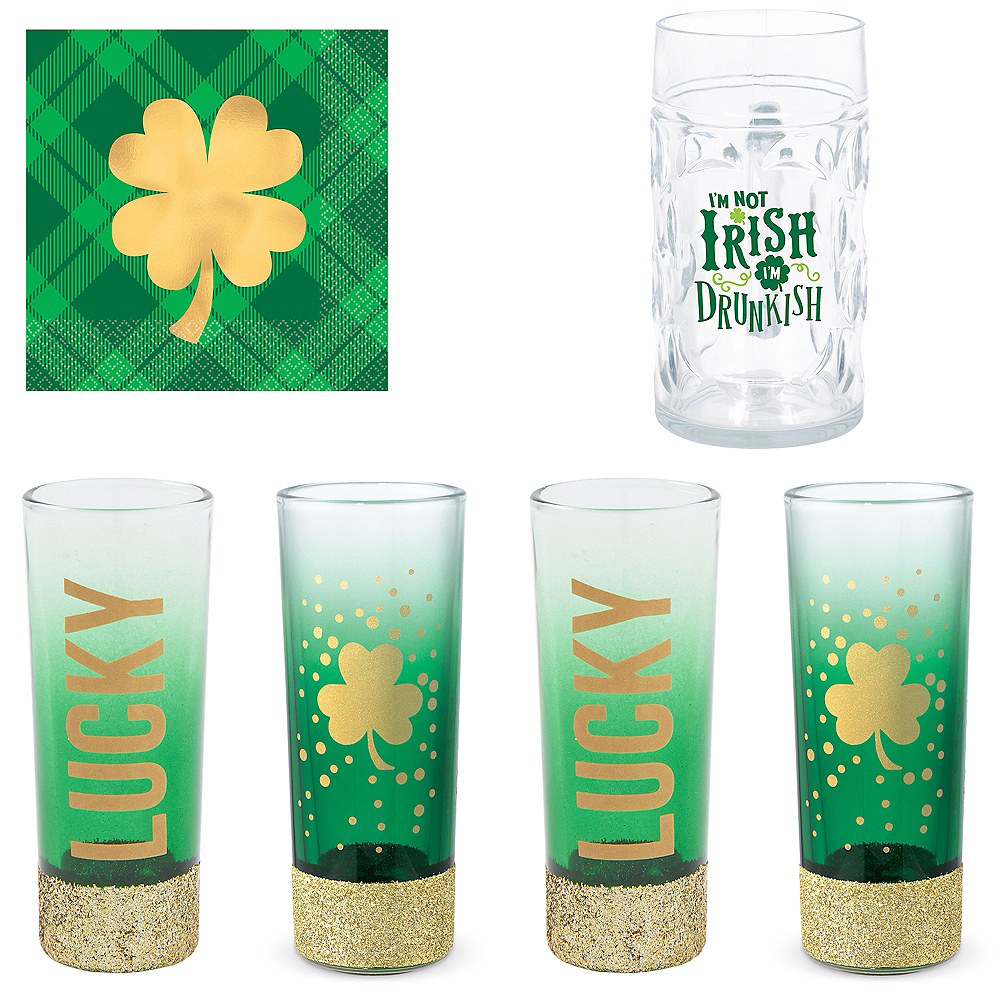 Lucky St. Patrick's Day Drinkware Kit Image #1