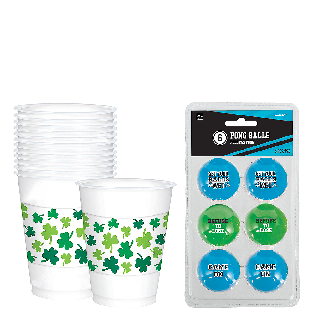 St. Patrick's Day Beer Pong Kit Image #1