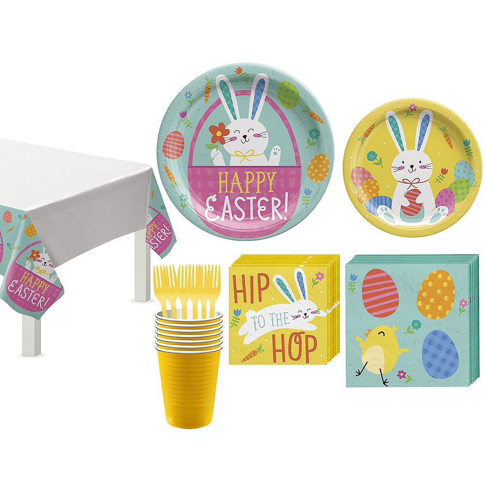 Hello Bunny Tableware Kit for 8 Guests Image #1