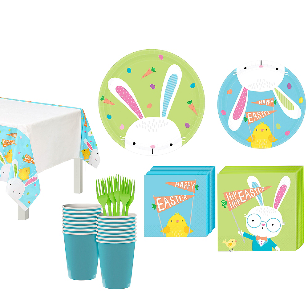 Hello Bunny Tableware Kit for 16 Guests Image #1