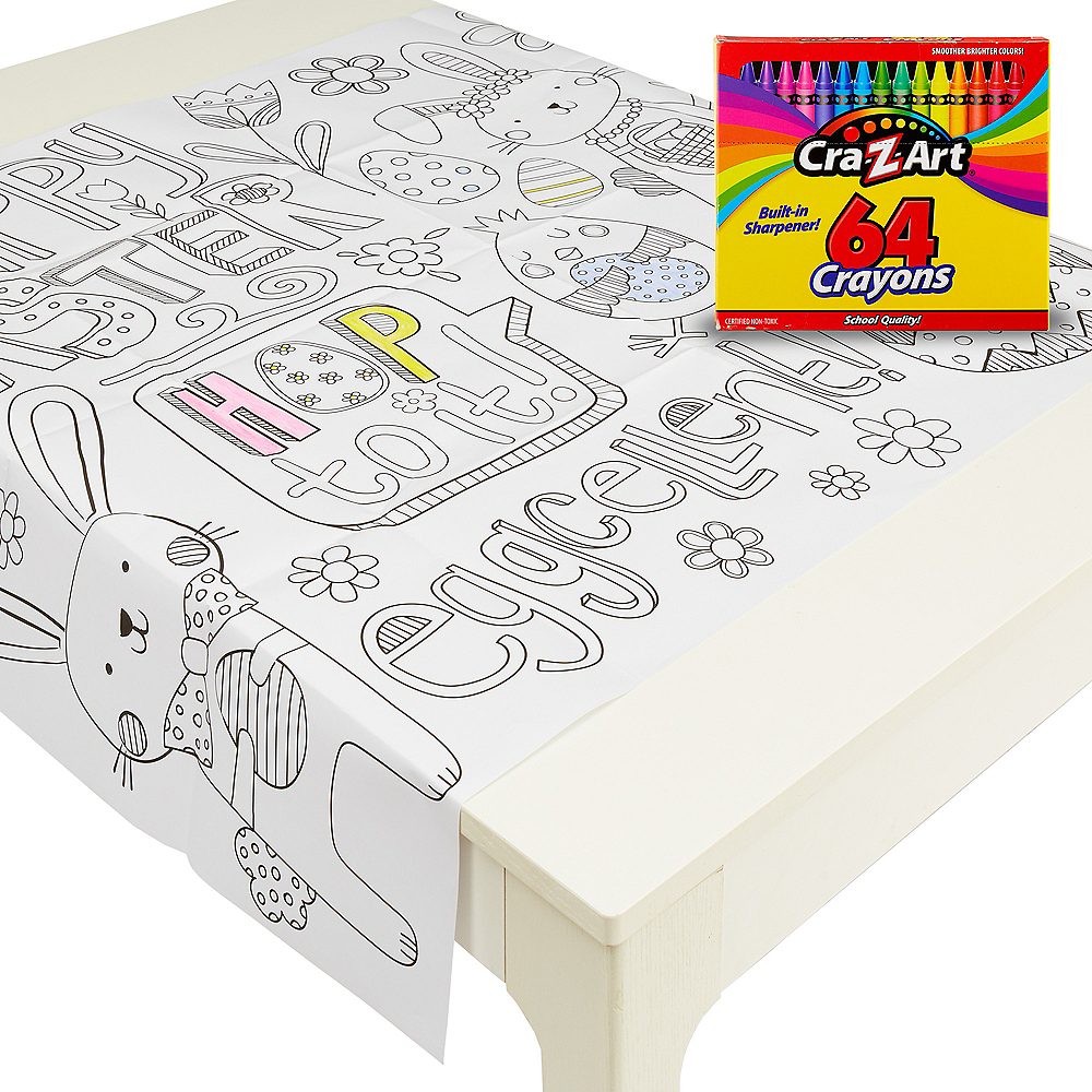 Easter Table Cover Coloring Kit Image #1