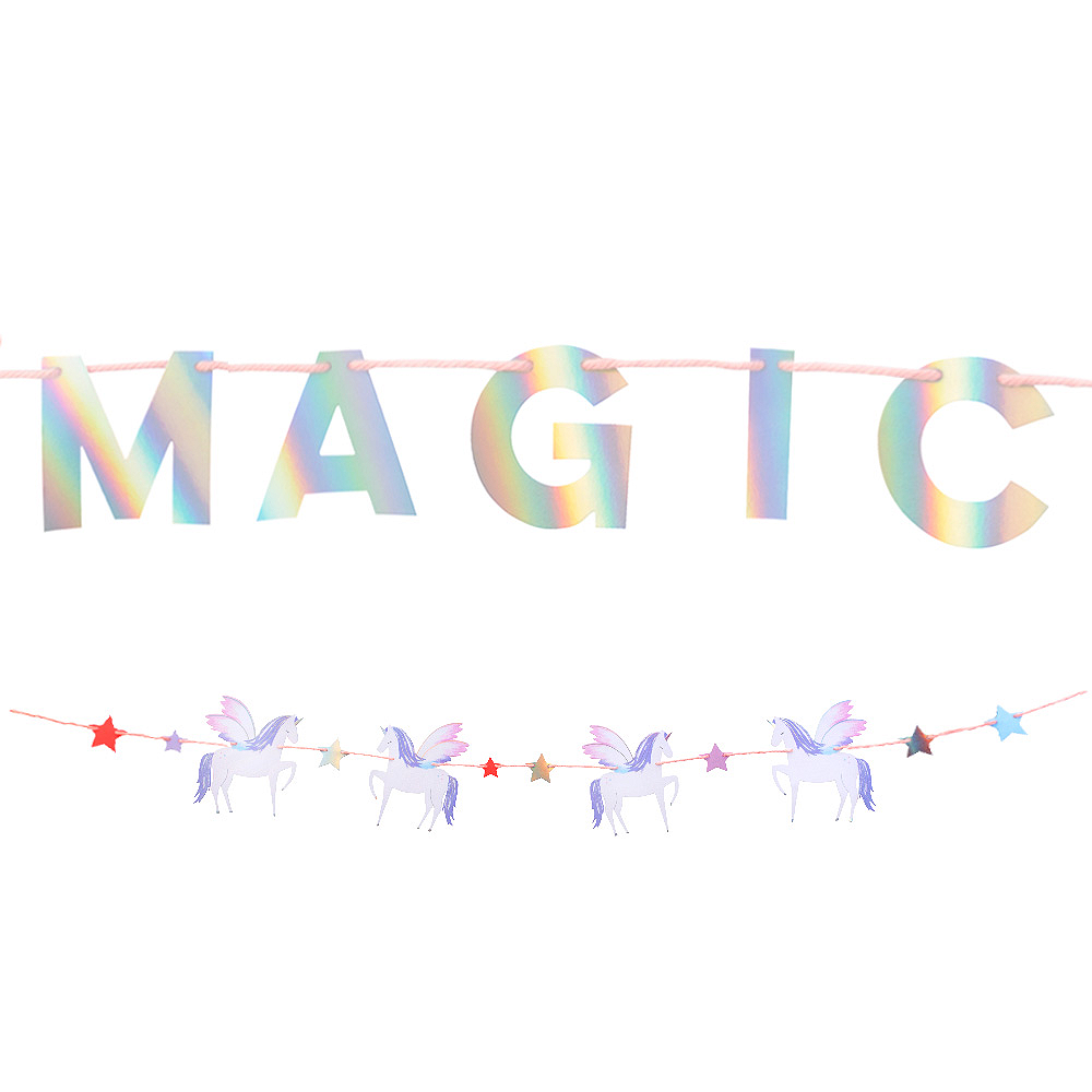 Alicorn Letter Banner with Garland Image #1