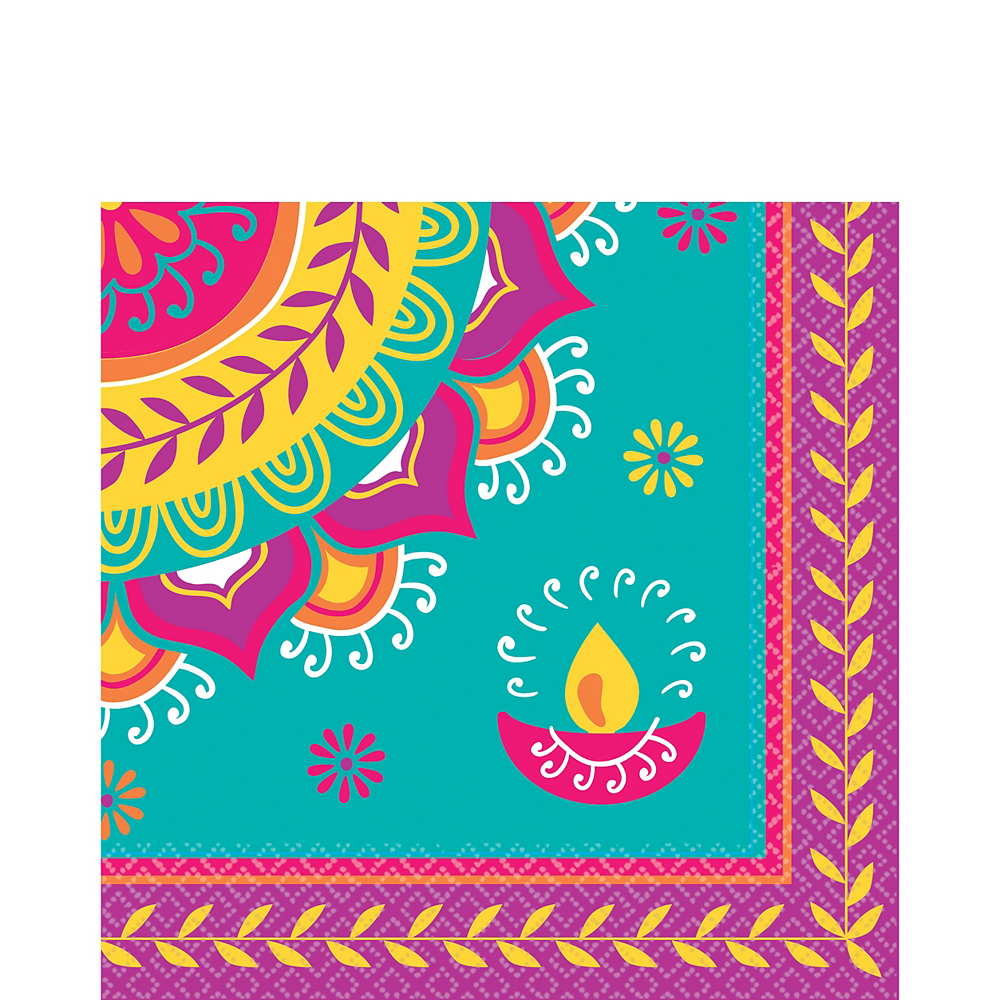 Diwali Lunch Napkins 16ct Image #1