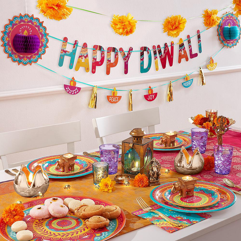 Diwali Dinner Plates 8ct Image #2