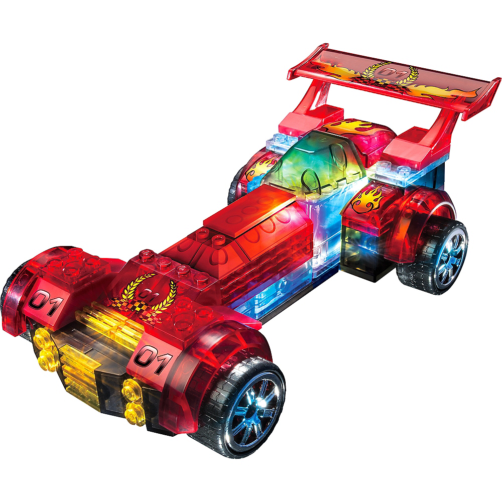 Lite Brix Light-Up Red Hot Racer by Cra-Z-Art 101pc Image #2