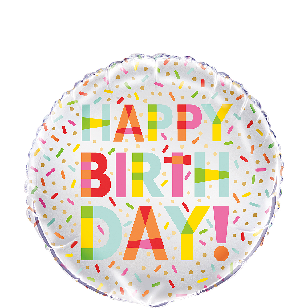 Donut Sprinkles Party Foil Balloon Image #1
