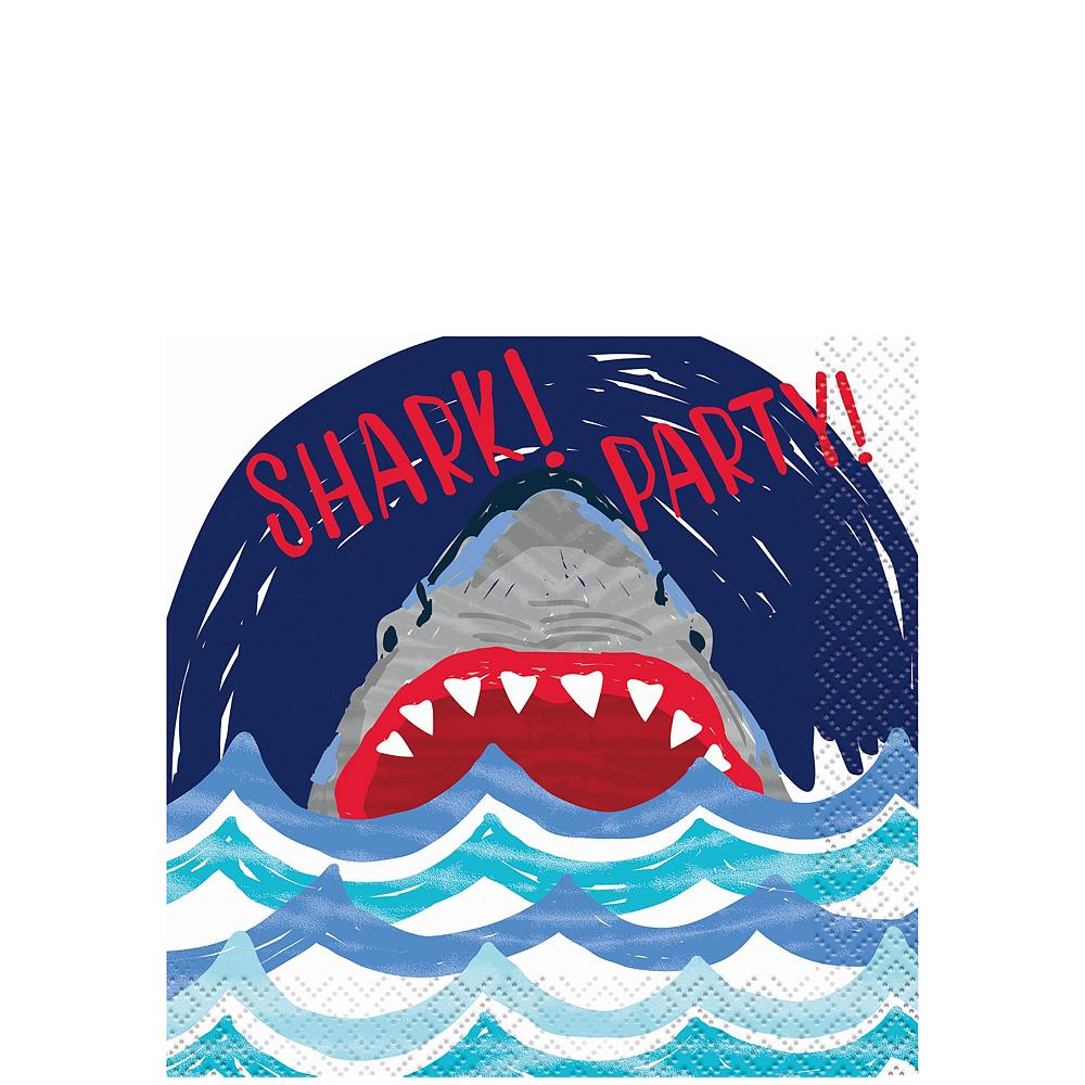 Fierce Shark Beverage Napkins Image #1