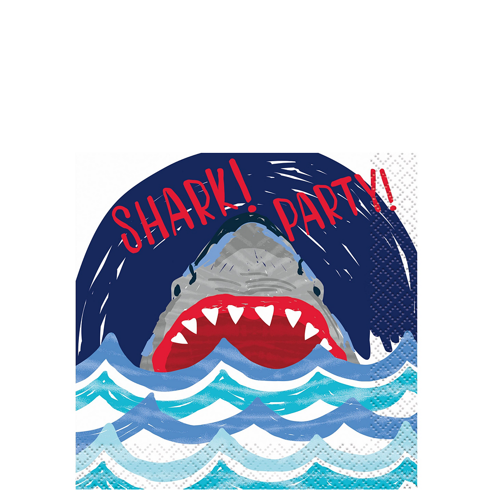 Fierce Shark Tableware Kit for 24 Guests Image #4