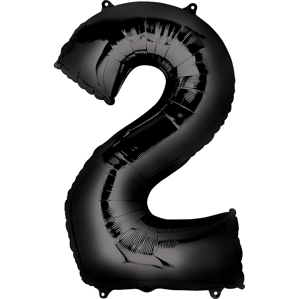 Giant Black & Silver 2019 Number Balloon Kit Image #2
