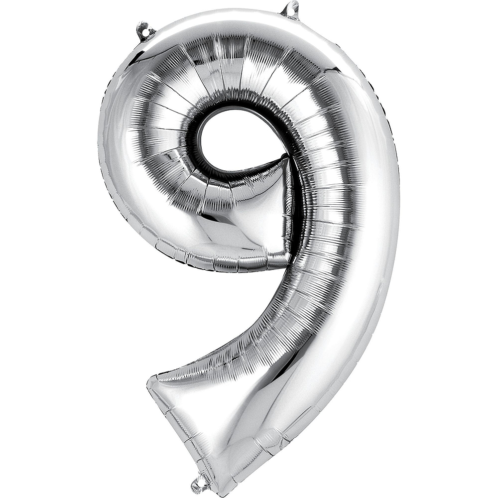 Giant Black & Silver 2019 Number Balloon Kit Image #5
