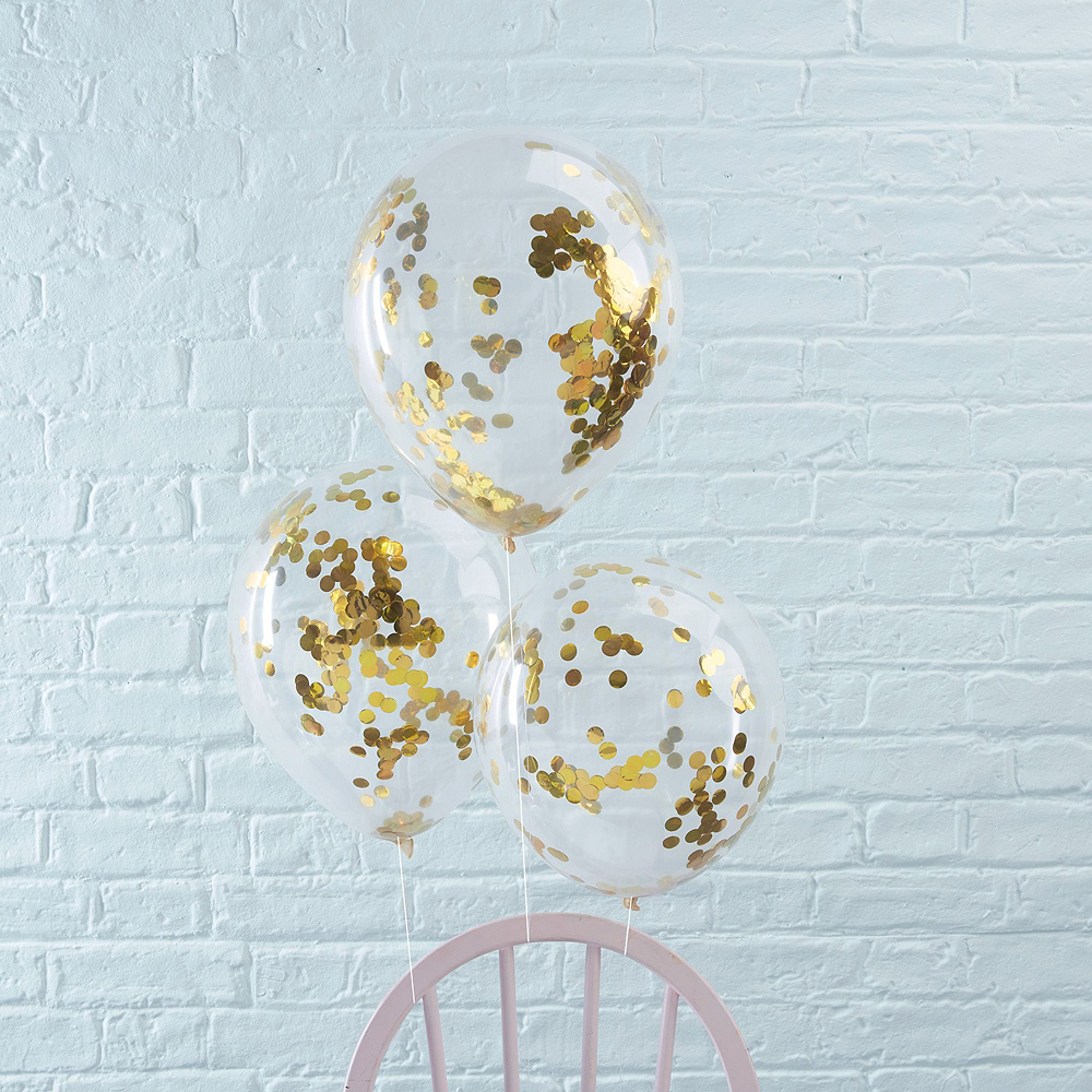 Champagne Happy New Year Balloon with Black & Gold Balloons Kit Image #2