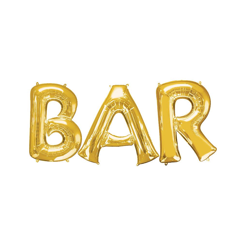 Giant Gold Bar Balloon Kit Image #1