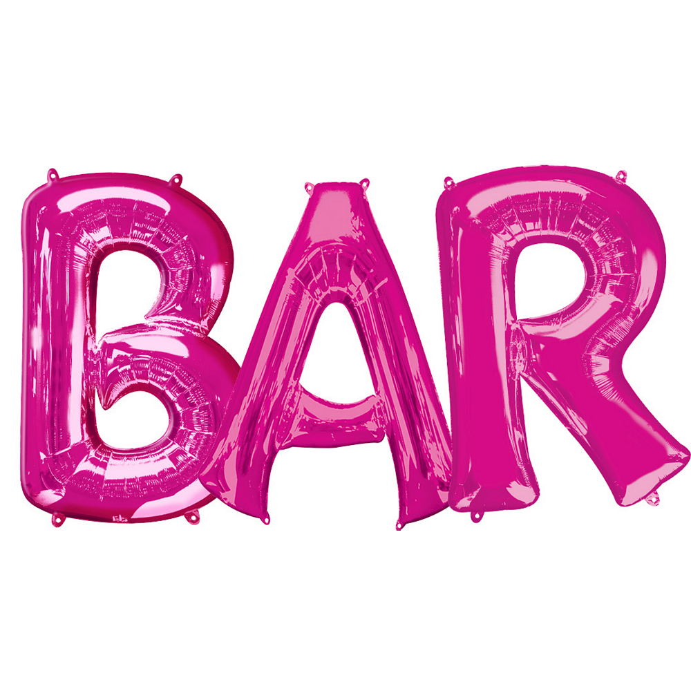 Giant Pink Bar Balloon Kit Image #1