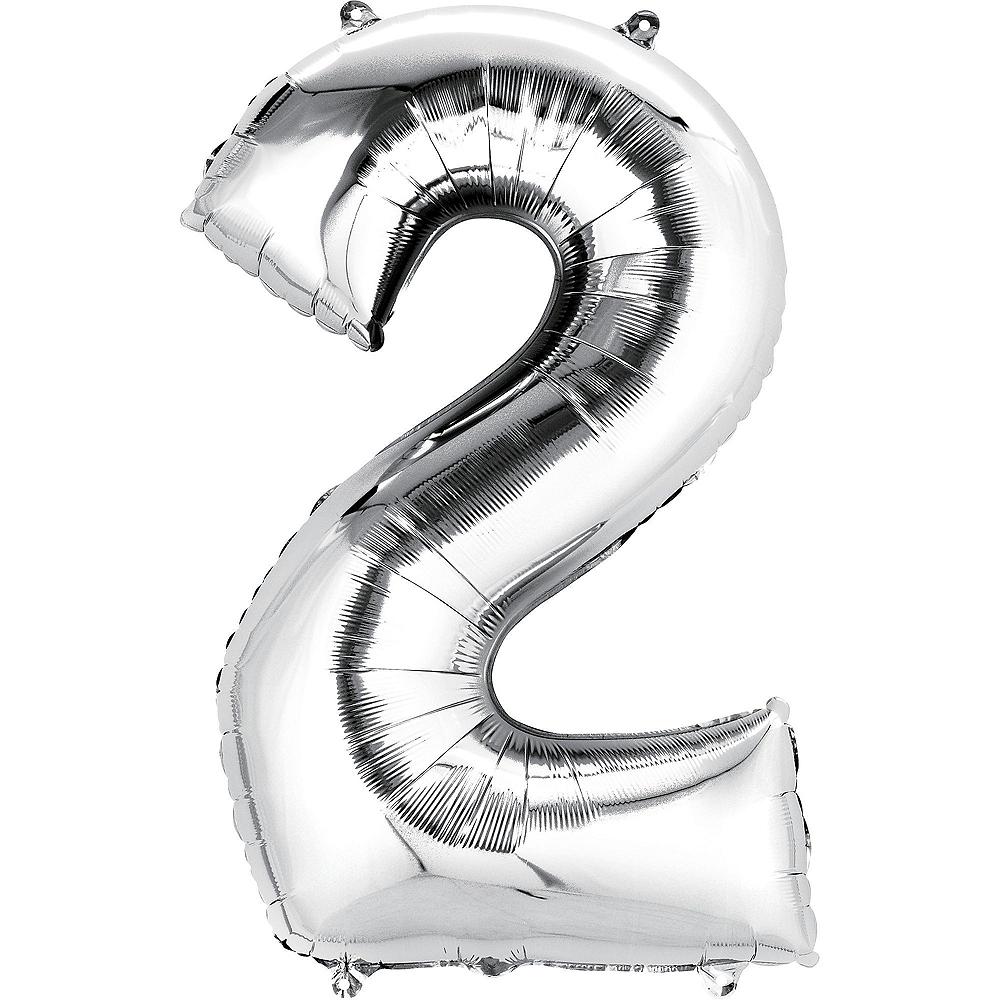 Giant Silver 2019 Star Balloon Kit Image #2