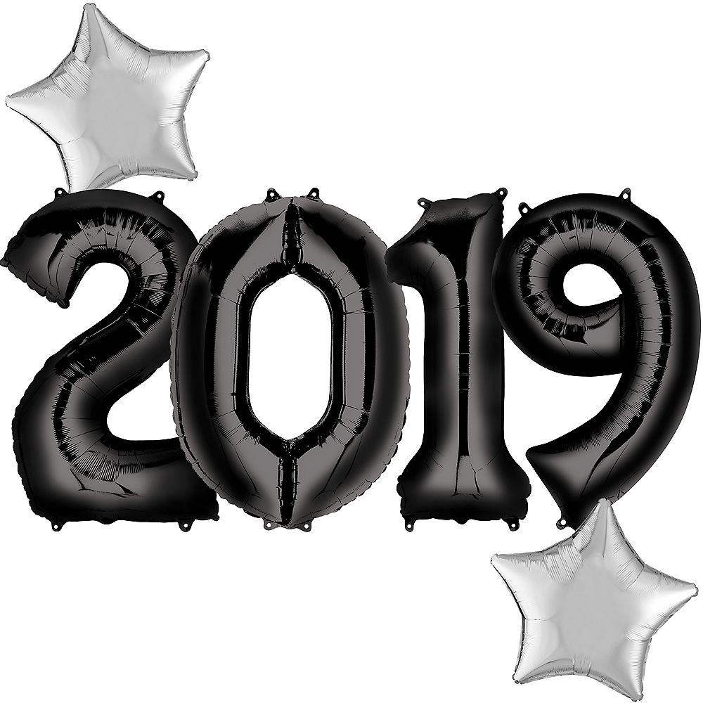 Giant Black 2019 Star Balloon Kit Image #1