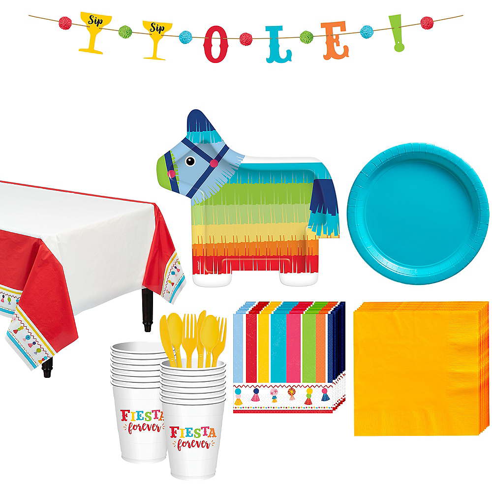 Fiesta Time Tableware Kit for 16 Guests Image #1